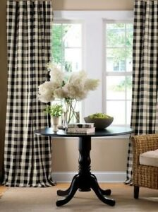 lovemyfabric Gingham/Checkered Polyester Curtain Window Treatment/Decor Panel