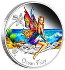 AUSTRALIA Perth 2016 Ocean Fairy colorized 50c Silver Proof 1/2 oz coin Tuvalu
