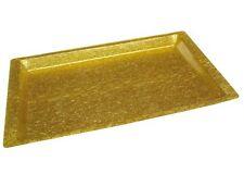 Winco Acrylic Rectangular Textured Tray, Gold - New Open Box