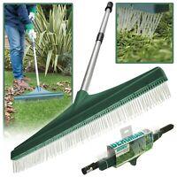 Artificial Lawn Brush Rake Broom Soft Nylon Bristles Fake Astro Turf Telescopic