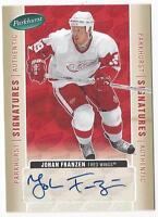 2005-06 autographed signed Parkhurst hockey card Johan Franzen Detroit Red Wings
