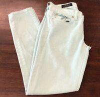 J.Crew Toothpick Women's Mint Green Skinny Slim Ankle Denim Jeans Size 26