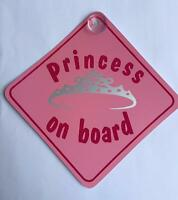 Princess On Board Suction Cup Safety Fun Car Vehicle Display Window Badge Sign