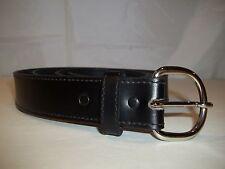 Unbranded Men's Genuine Leather Fashion Belt Black Big & Tall Size 50