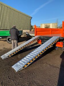 Aluminium Loading Ramps 6 TON Heavy Duty 3m Long Pair, Includes VAT and Delivery