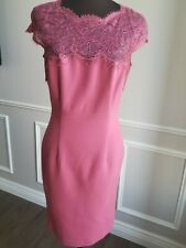 $2K Emilio PUCCI rose pink lace wool dress sz 44 8 10 M L
