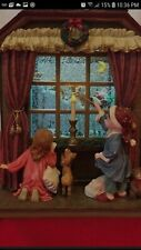"Musical Kirkland Signature Windowpane Water Globe ""Snowman"" Christmas with Box"