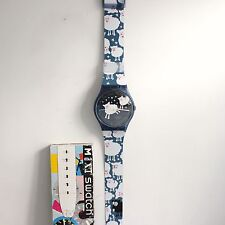 SWATCH MAXI BLACK SHEEP MGN150 Original Box 83 Inch Wall Clock Swiss Switzerland