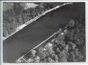 ZZ-5051/ Bernburg  Foto seltenes Luftbild 1938 18 x 13 cm