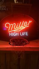 Miller High Life Basketball Hoop Neon Light Man Cave Beer Sign Very Rare Sign !