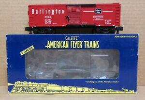 American Flyer 6-48362 Burlington Boxcar S-Gauge C-7