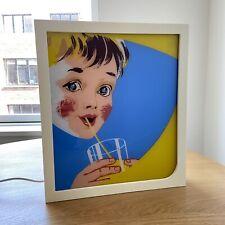 More details for handmade vintage retro corona soft drinks lightbox advertising sign art