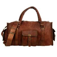 Men's Brown Vintage leather Lightweight Cowhide Travel Luggage Duffle Gym Bags