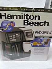 New Hamilton Beach Flex Brew 49976 2 Way Brewer Programmable Coffee Maker Black