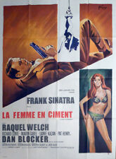 LADY IN CEMENT - SINATRA / WELCH / SEXY BIKINI WOMAN - LARGE FRENCH MOVIE POSTER