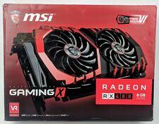 MSI Gaming X Radeon RX480 8 GB Graphics Card DX12 AMD VR Ready G5