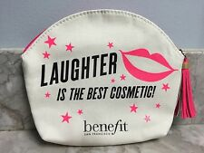 Benefit Cosmetics Laughter Is The Best Cosmetic Makeup Bag SHIPS FREE