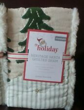 1 POTTERY BARN KIDS Heritage Santa Standard Quilted Sham NEW Christmas