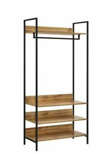 Coat Rack Open Wardrobe 4 Shelves Furniture Storage Cupboard