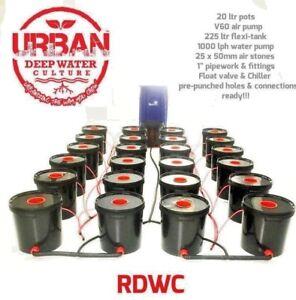 20L 24 Pot Urban Deep Water Culture 4 Lane Flexi Tank System Alien IWS RUSH DWC