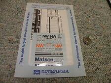 Microscale decals N 60-282 40' Norfolk Western M of W vans Matson 40' cont  N106