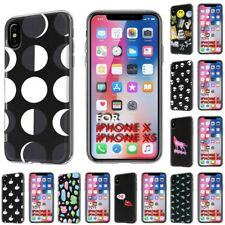 Thin Gel Design Protective Phone Case Cover for Apple iPhone XS,Moon Style Print