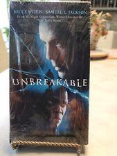 Unbreakable (Vhs, 2001) Brand New Factory Sealed, Bruce Willis, Samuel L Jackson