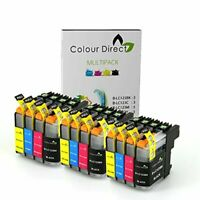 12 XL ColourDirect LC123  LC121 Chipped Ink Cartridges for Brother DCP-J132W DC