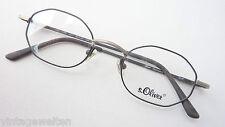 S. Oliver Herren Brille silber schwarz Metall Brillenfassung 8-eckig Grösse S