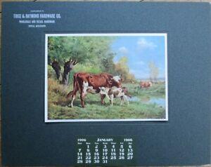 Tupelo, MS 1906 Advertising Calendar: Trice & Raymond Hardware- Mississippi Miss