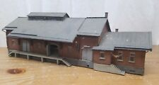 HO SCALE Kibri Built Train Station Building Detailed & Weathered s500 s 500