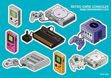 Game console stickers - Playstation, Sony, Atari, Nintendo, Sega, Gameboy,