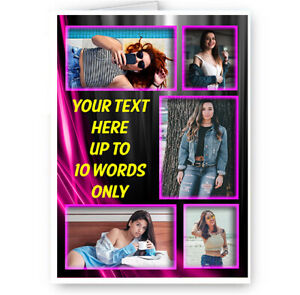 Personalised Collage 5 Photo & Message A5 Christmas, Birthday, All Occasion Card