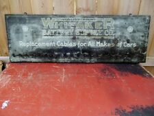 New ListingVintage*Rare* 1920'S Whitaker Battery Supply Tin Over Wood Gas Oil Sign