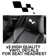 RENAULT SPORT HEADREST LOGO CAR SEAT DECALS Vinyl Stickers - Graphics X5