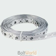 BUILDERS GALVANISED STEEL LIGHTWEIGHT FIXING BAND 18mm x 0.8 x 10M STRAPING