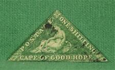 CAPE OF GOOD HOPE STAMP 1/- GREEN TRIANGLE USED  (B1)