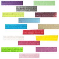 3D Brick Wall Stickers Self-adhesive Panel Decal Brick Pattern Room Wall Decor