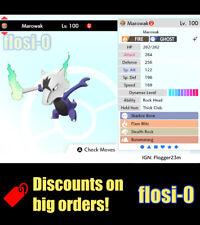 6IV Ultra Shiny Marowak Alola Pokemon Sword and Shield (Square Shiny)