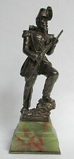 AWESOME SILVER BRONZE FRENCH 2nd EMPIRE INFANTRYMAN STATUETTE