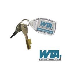 Small brass coupling lock for small trailers like Erde, Daxara, Al-ko,Winterhoff