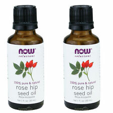 2x NOW 100% Pure Natural Rose Hip Seed Essential Oil 1 oz 30 ml FRESH Made In US
