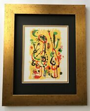 JOAN MIRO ORIGINAL 1950 BEAUTIFUL SIGNED PRINT MATTED 11 X 14 + LIST