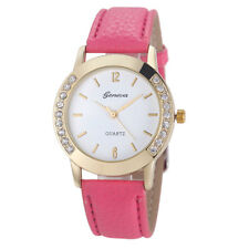 Geneva Watch Fashion Women Watch Diamond Analog Leather Quartz Wrist Watch NEW