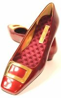 Enzo Angiolini Womens Red Patent Leather Loafer Flats Size 7 M