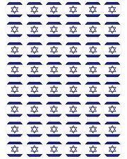48 x Israel / Israeli Flags Pre Cut Cupcake Toppers Premium Sugar Icing Sheet