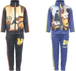 MINIONS Boys Tracksuit Set Sportswear | Chocolate | Blue | 3 Years to 8 Years