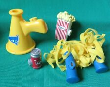 Amazing Ally Doll interactive Cheerleader Pom Pom Pop Popcorn Megaphone Lot