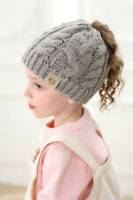 Baby Knitted Warm Cap For Pony Tail For Girls Autumn and Winter
