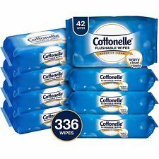 336 Flushable Wet Wipes by Cottonelle FreshCare Lightly Scented - FREE FAST SHIP
